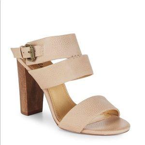 Splendid jessy tan leather heel